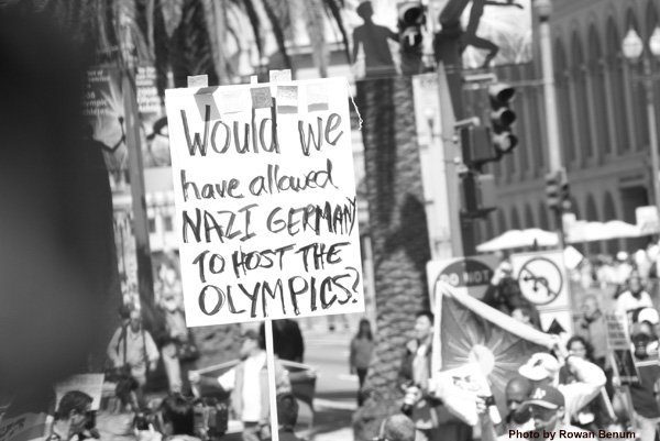 Olympics Protester - Click To View Image