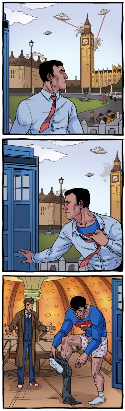 Supeman and Doctor Who - Click To View Image
