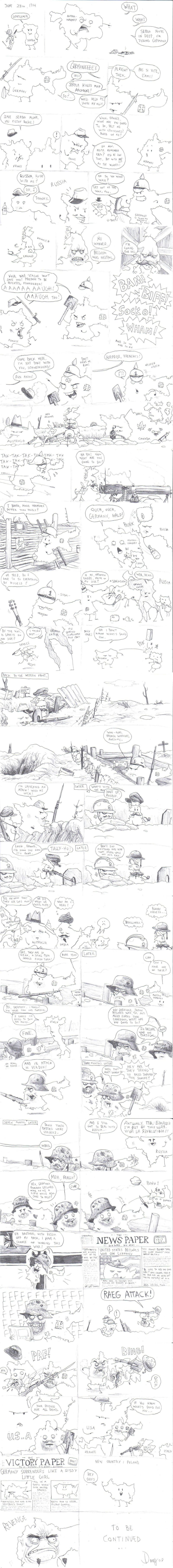 World War One Simple Version - Click To View Image