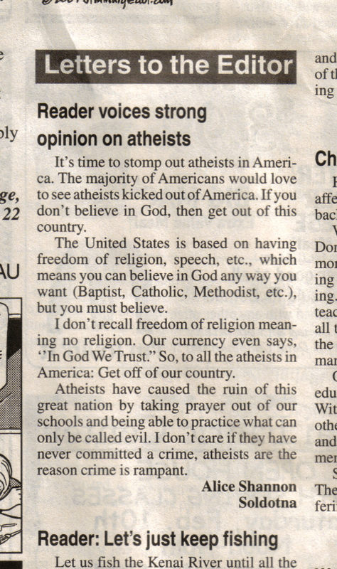 Damn Atheists! - Click To View Image