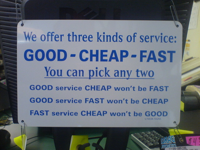 Good Cheap Fast - Click To View Image