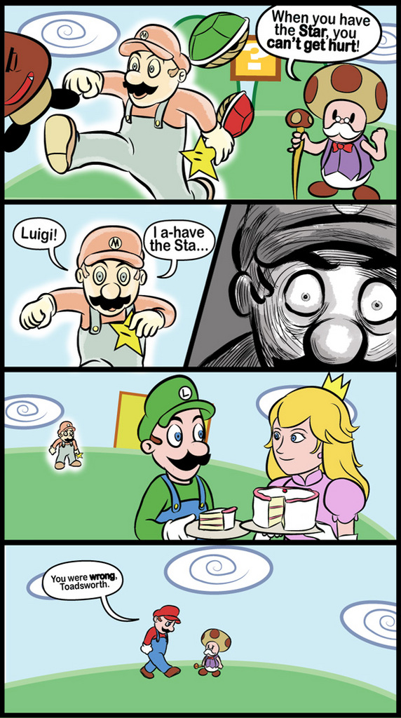 Mario isn't invincible. - Click To View Image