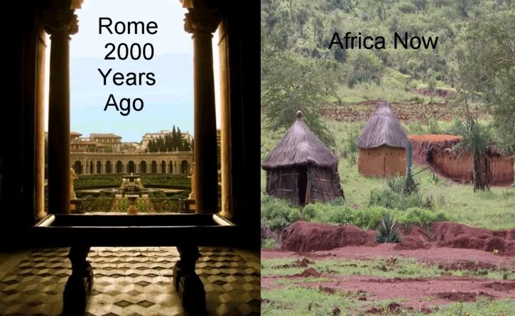 Ancient Rome vs Present Day Africa - Click To View Image