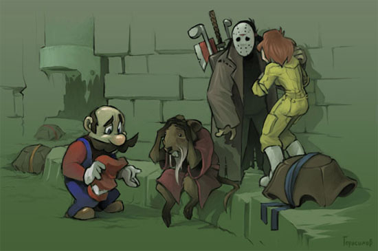 Mario Killed The Teenage Mutant Nija Turtles - Click To View Image