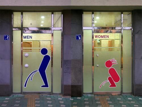Weird Bathroom Signs - Click To View Image